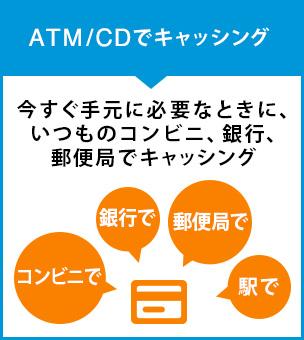 ATM/CDでキャッシング